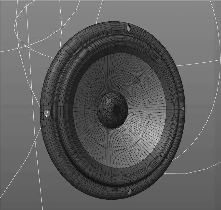 オーディオスピーカーベースユニット royalty-free 3d model - Preview no. 8