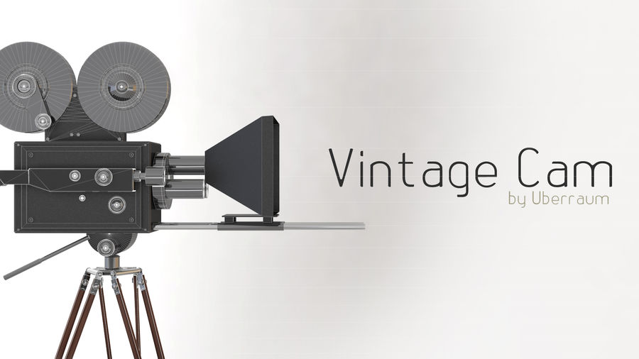 Vintage Camera royalty-free 3d model - Preview no. 2