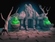 Cave-Entrance hög poly 3d model