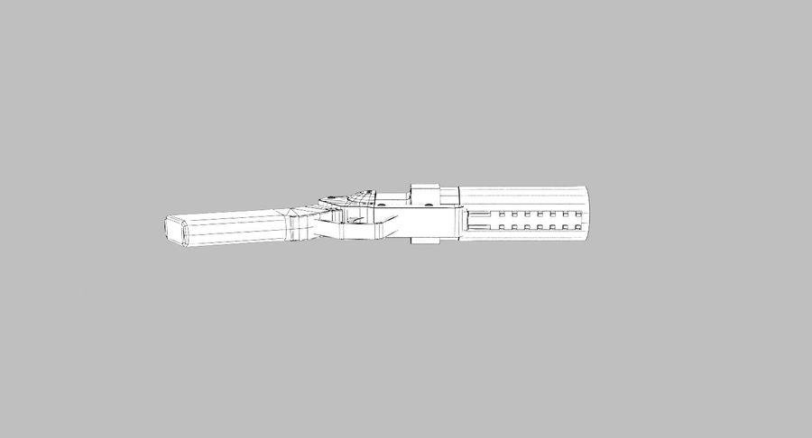 Musketon Weapon Gun royalty-free 3d model - Preview no. 11
