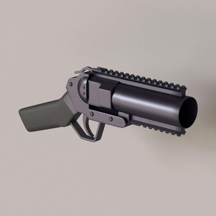 Musketon Weapon Gun royalty-free 3d model - Preview no. 1