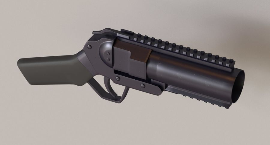 Musketon Weapon Gun royalty-free 3d model - Preview no. 3