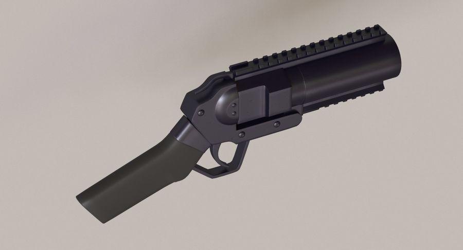 Musketon Weapon Gun royalty-free 3d model - Preview no. 7