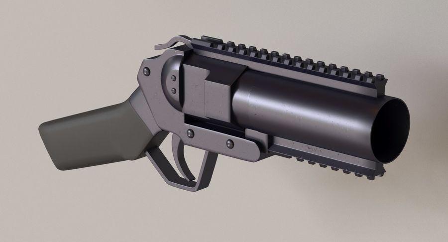 Musketon Weapon Gun royalty-free 3d model - Preview no. 2
