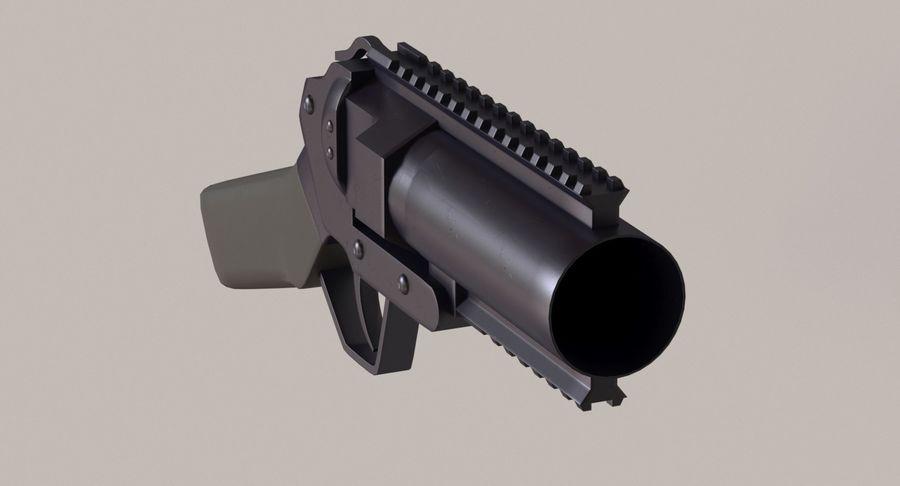 Musketon Weapon Gun royalty-free 3d model - Preview no. 6