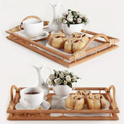 トレイw003での朝食 3d model