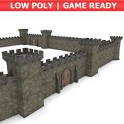 Castelo - Pacote modular 3d model