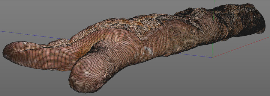 bread (baguette) royalty-free 3d model - Preview no. 6