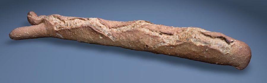 bread (baguette) royalty-free 3d model - Preview no. 1