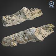3d scanned rock cliff T 3d model