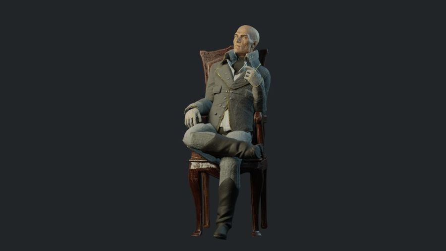 Soylu Lord royalty-free 3d model - Preview no. 8