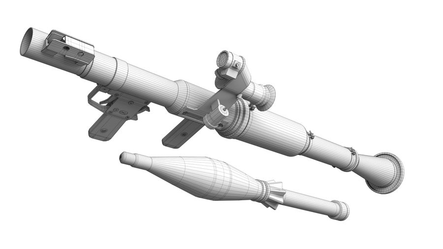 Mirino ottico RPG-7 royalty-free 3d model - Preview no. 12
