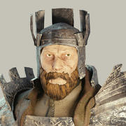 Średniowieczny rycerz fantasy 3d model