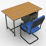 Офисный стол-стул 3d model