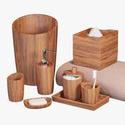 아카시아 손수 목제 목욕 부속품 3d model