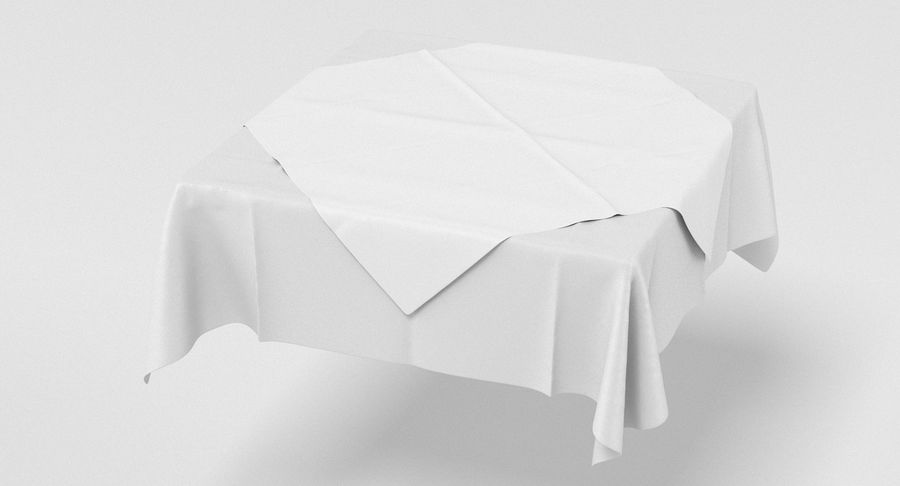 Tischdecke royalty-free 3d model - Preview no. 3