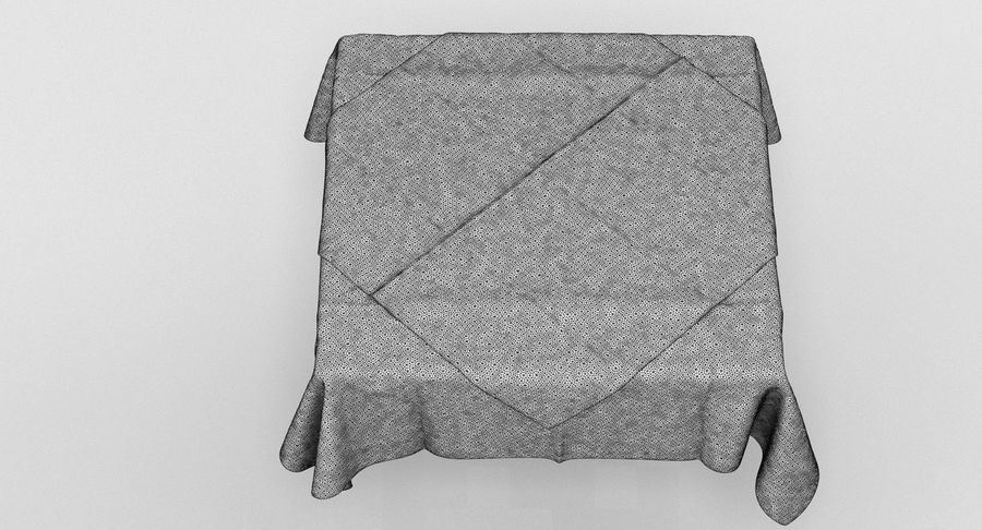 Tischdecke royalty-free 3d model - Preview no. 7