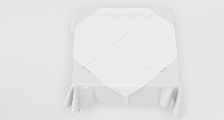 Tischdecke royalty-free 3d model - Preview no. 6