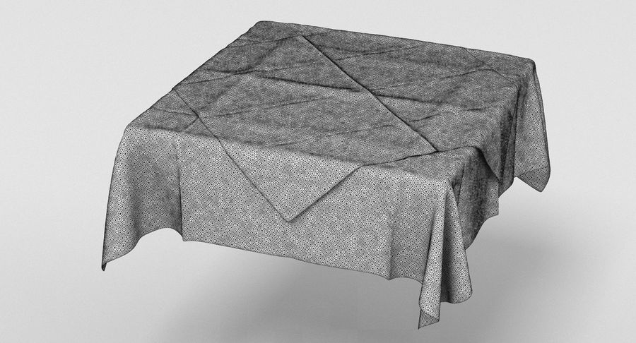 Tischdecke royalty-free 3d model - Preview no. 4