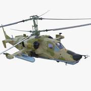 Attack Helicopter Kamov KA-50 Black Shark Rigged Modèle 3D 3d model