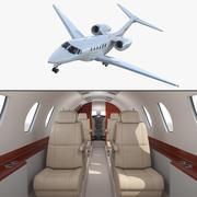 Business Jet Cessna Citation X con interior modelo 3D modelo 3d