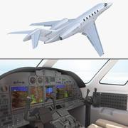 Business Jet Cessna Citation X con modelo 3D interior equipado modelo 3d