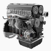 Inline 6 Cylinder Car Engine 3d model