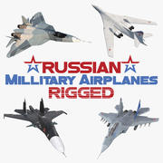 Rigged Russian Millitary Airplanes 3D Models Collection 3d model