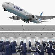 Boeing 767-400 с 3D-моделью интерьера Condor Flugdienst Rigged 3d model