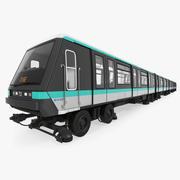 Paris Subway Train MP 05 Rigged 3d model
