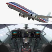 Боинг 737-900 с внутренней и кабиной экипажей American Airlines Rigged 3D Model 3d model