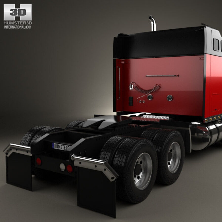 2004年国际9900i牵引车 royalty-free 3d model - Preview no. 7
