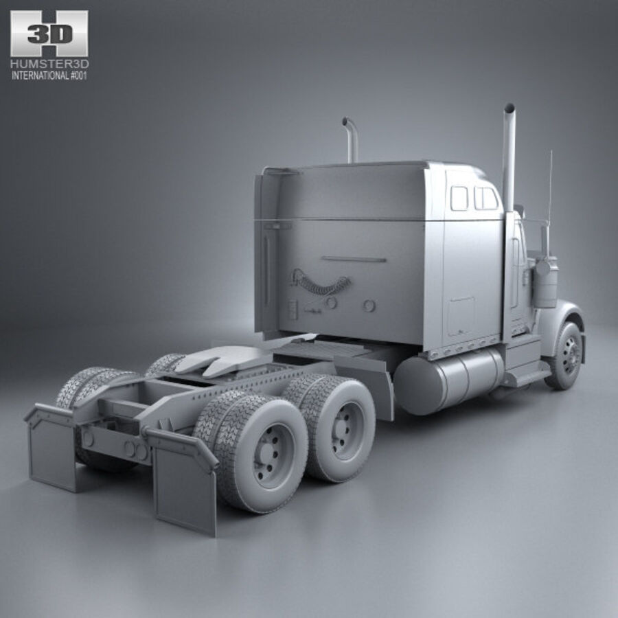 2004年国际9900i牵引车 royalty-free 3d model - Preview no. 12