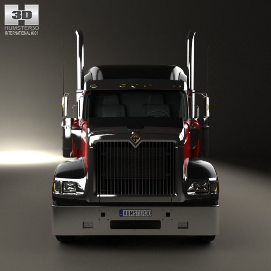 2004年国际9900i牵引车 royalty-free 3d model - Preview no. 10