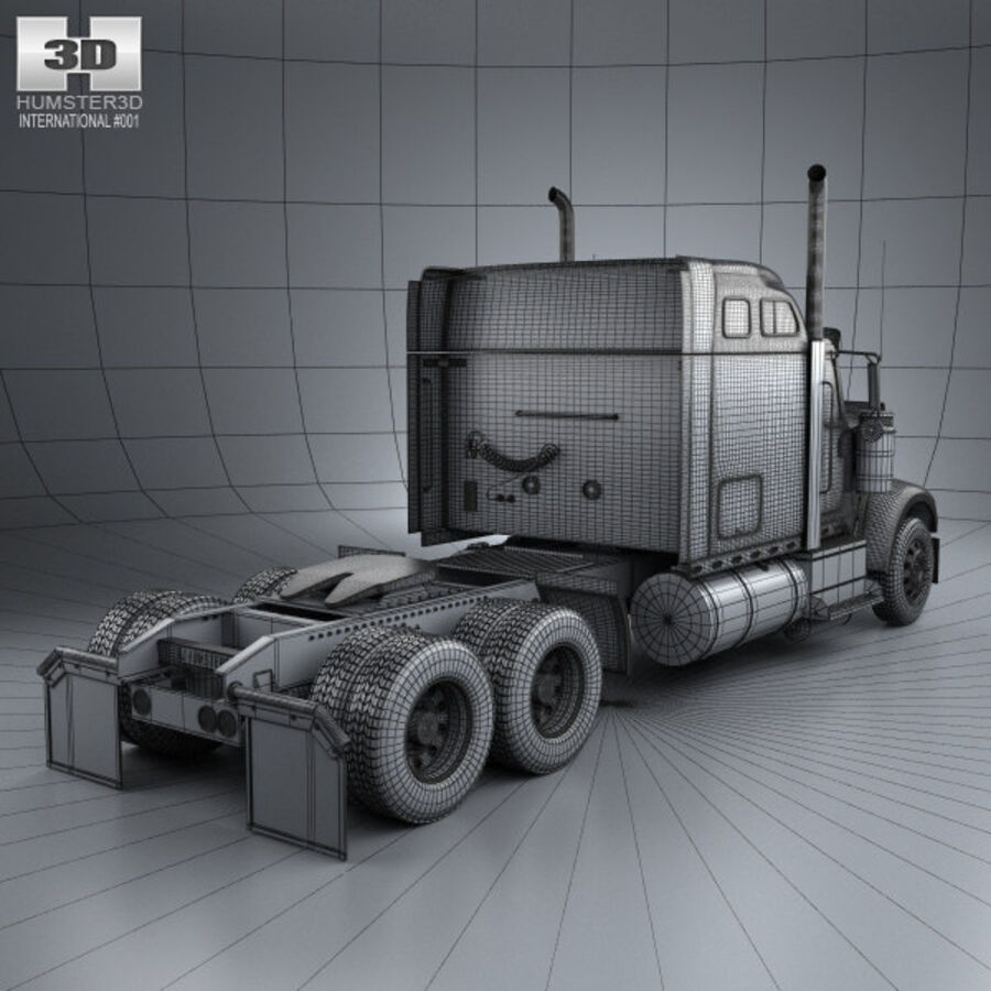 2004年国际9900i牵引车 royalty-free 3d model - Preview no. 4