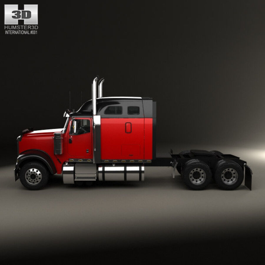 2004年国际9900i牵引车 royalty-free 3d model - Preview no. 5
