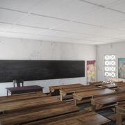 Fotorealistyczna architektura afrykańskiej szkoły podstawowej w Ugandzie Klasa V1 3d model