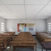 Fotorealistyczna architektura afrykańskiej szkoły podstawowej w Ugandzie Klasa V2 3d model