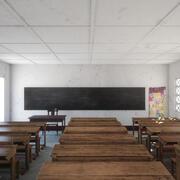 Fotorealistyczna architektura afrykańskiej szkoły podstawowej w Ugandzie Klasa V3 3d model