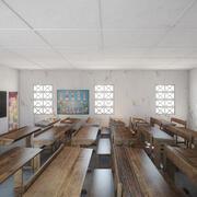 Fotorealistyczna architektura afrykańskiej szkoły podstawowej w Ugandzie Klasa V4 3d model