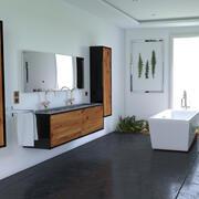 Vegetabiliskt badrum 3d model
