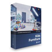 Çocuk Mobilyası 3D Modeller Koleksiyon Cilt 96 C4D 3d model
