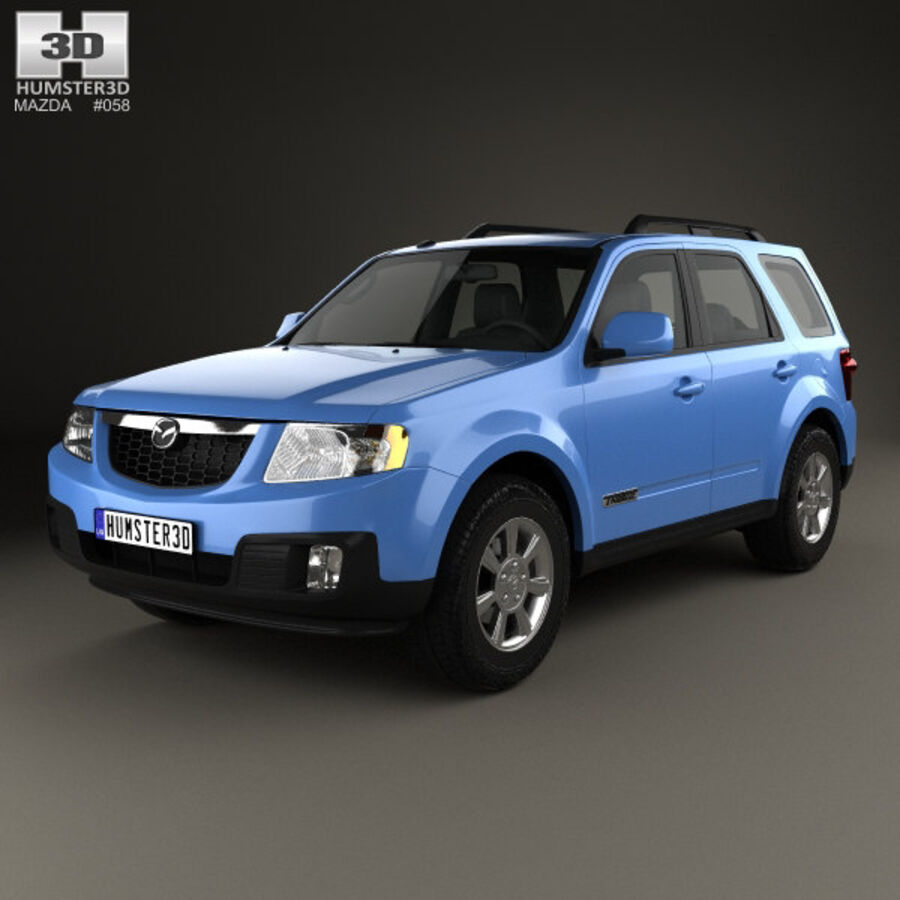Mazda Tribute 2007 royalty-free 3d model - Preview no. 1