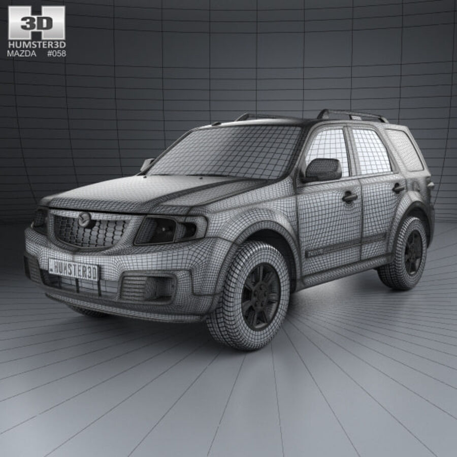 Mazda Tribute 2007 royalty-free 3d model - Preview no. 3