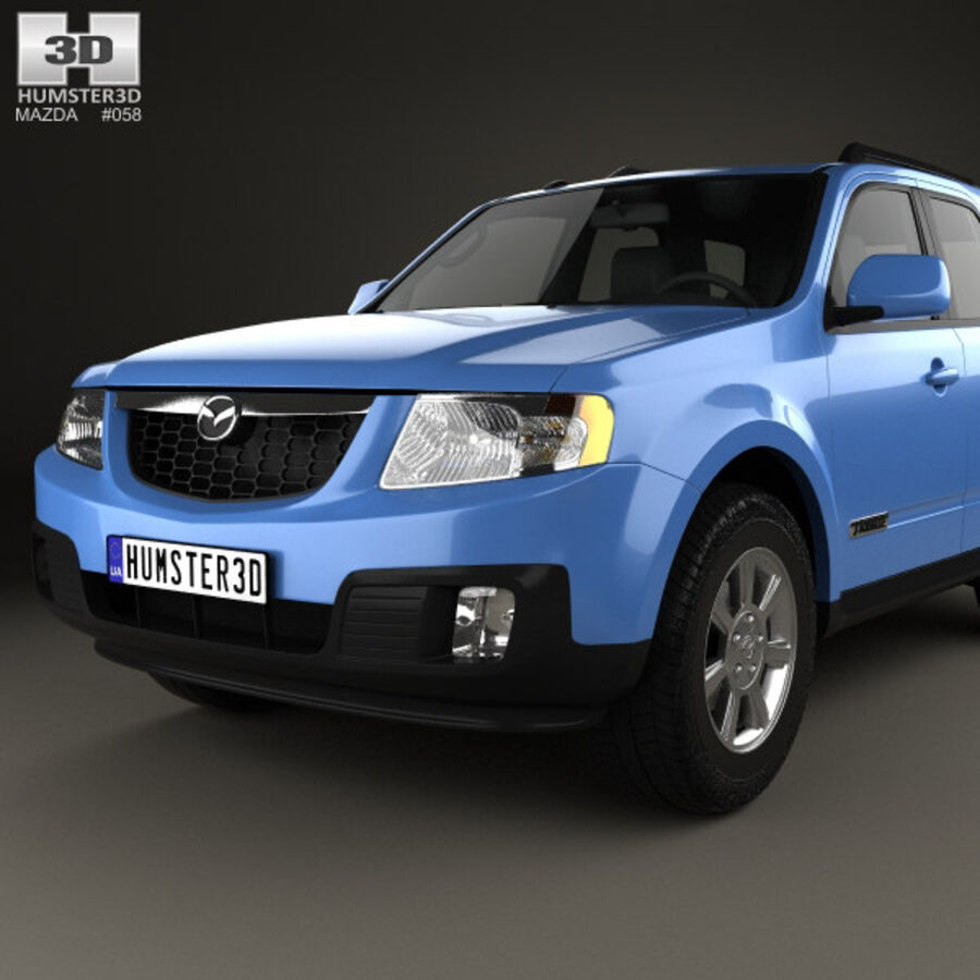 Mazda Tribute 2007 royalty-free 3d model - Preview no. 6