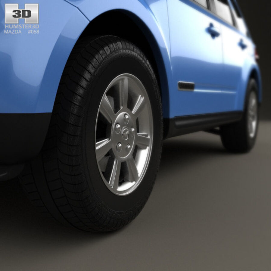 Mazda Tribute 2007 royalty-free 3d model - Preview no. 8