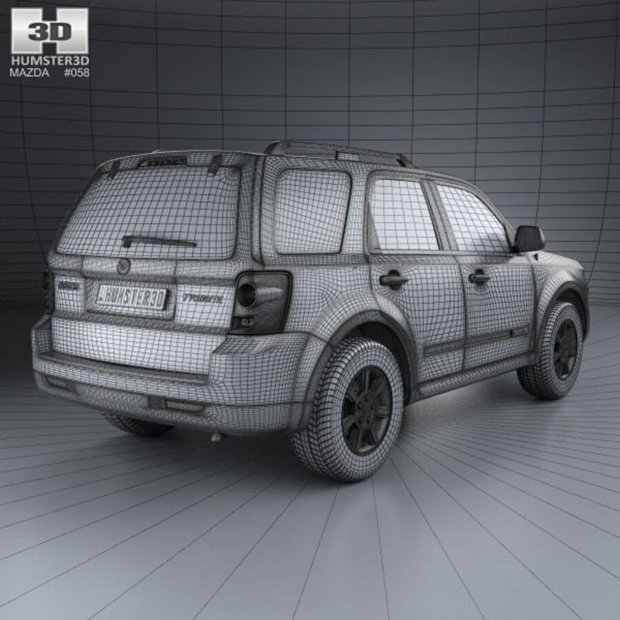Mazda Tribute 2007 royalty-free 3d model - Preview no. 4