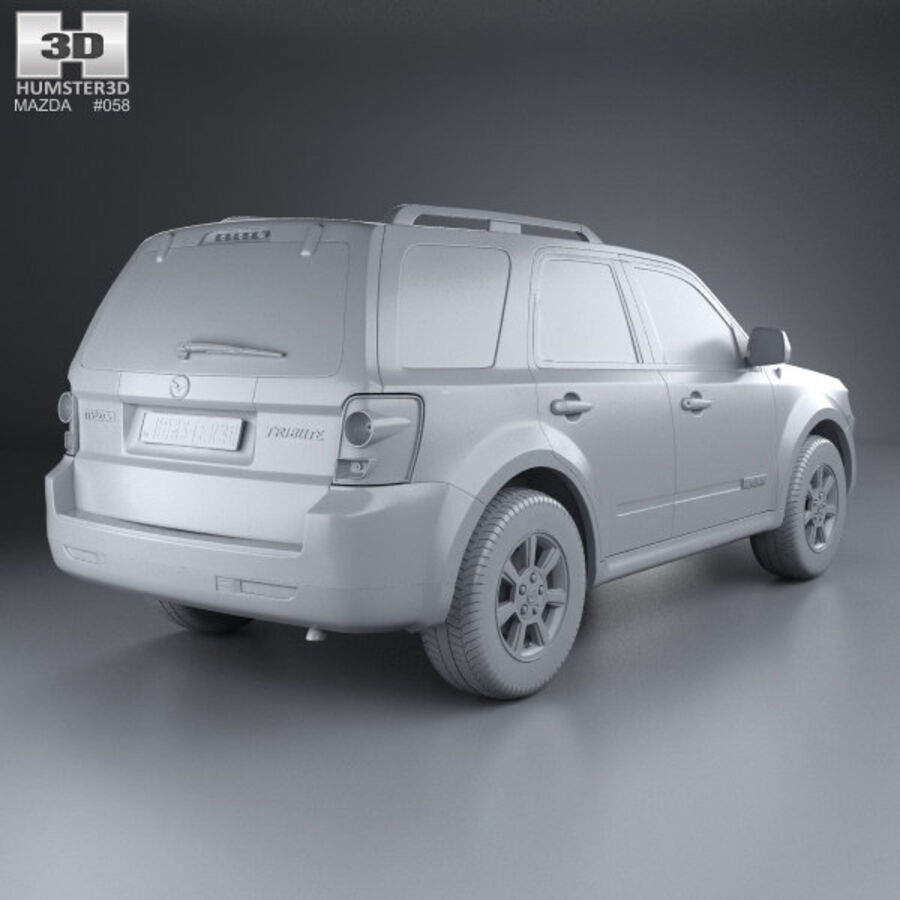 Mazda Tribute 2007 royalty-free 3d model - Preview no. 12