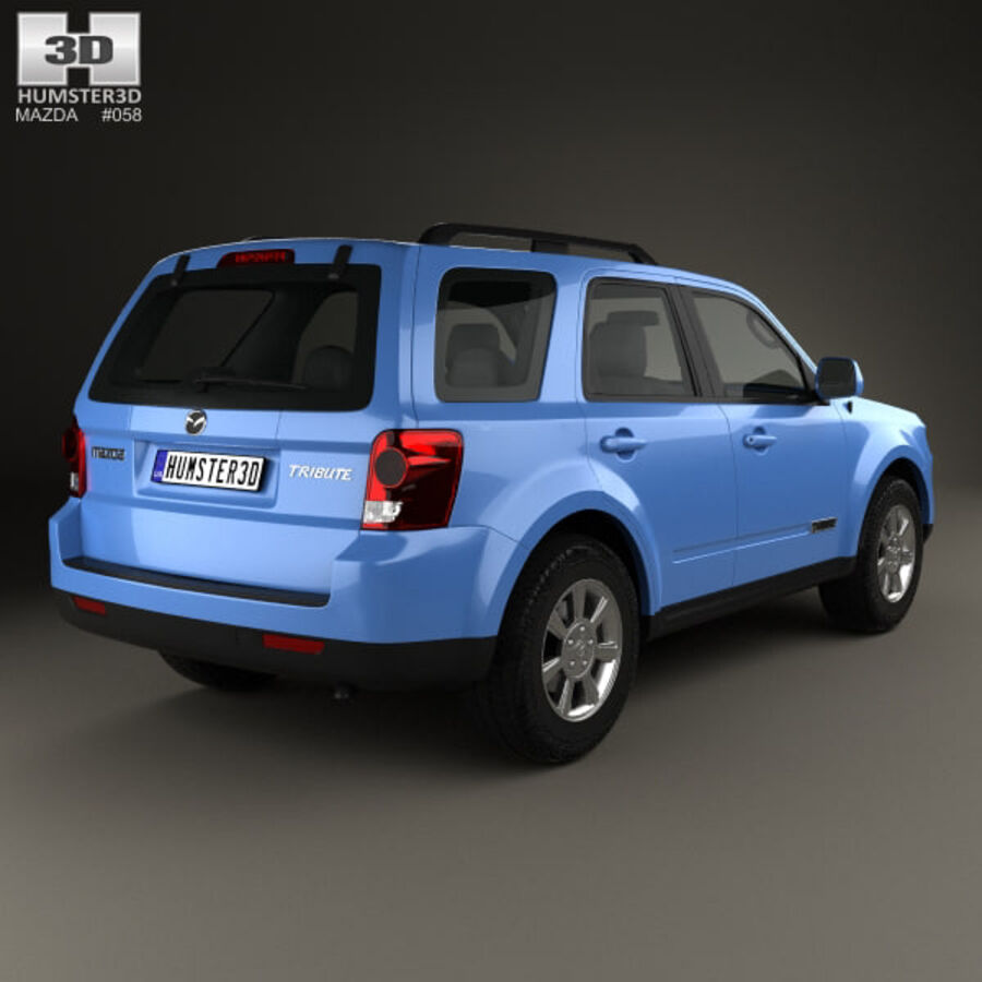 Mazda Tribute 2007 royalty-free 3d model - Preview no. 2