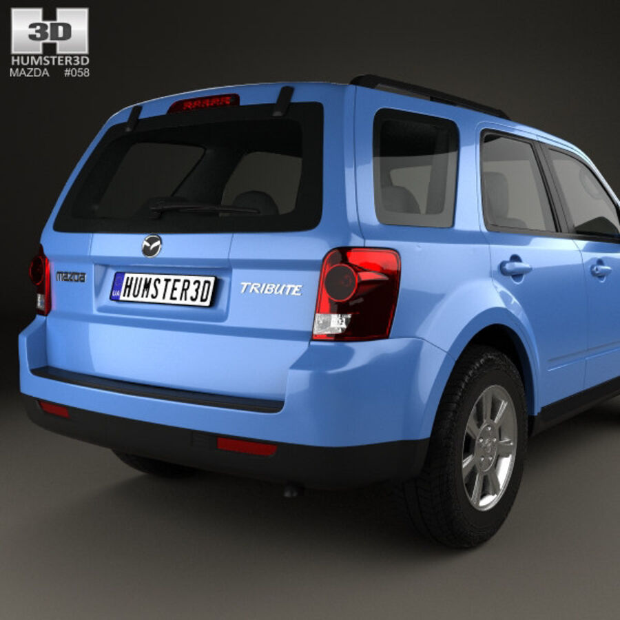 Mazda Tribute 2007 royalty-free 3d model - Preview no. 7
